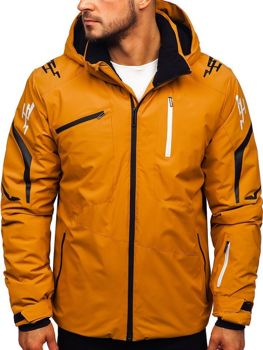 Kamelová pánska lyžiarská zimná bunda Bolf 5941
