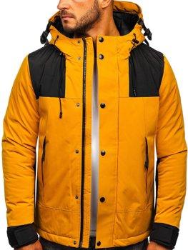 Kamelová pánska zimná bunda Bolf J1905