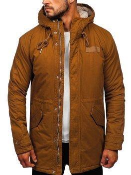 Kamelová pánska zimná bunda parka Bolf EX838