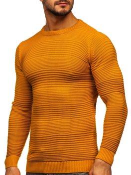 Kamelový pánsky sveter Bolf 4608