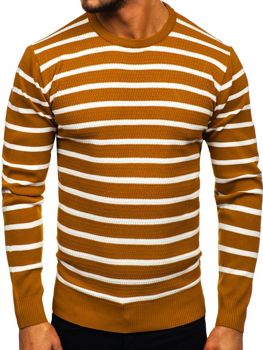 Kamelový pánsky sveter Bolf H6052