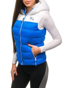 Modrá dámska vesta BOLF 7054