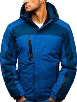 Modrá pánska lyžiarska zimná bunda BOLF HZ8112