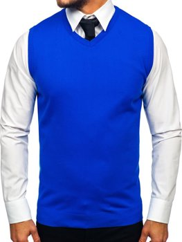 Modrá pánska pletená vesta Bolf 2500