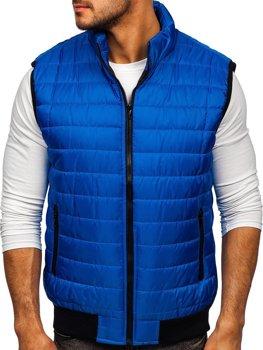 Modrá pánska prešívaná vesta Bolf MY77