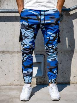 Modré pánske kapsáčové joggery Bolf 0705