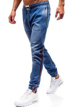 Modré pánske riflové jogger nohavice BOLF 2053