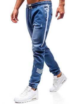 Modré pánske riflové jogger nohavice BOLF 2055