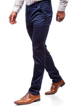 Modré pánske spoločenské nohavice BOLF 7623