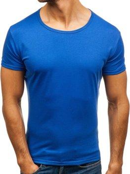 Modré pánske tričko bez potlače BOLF 2006