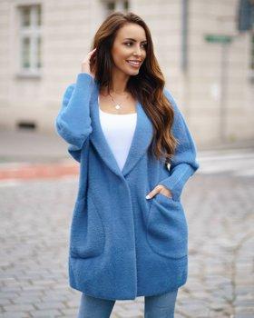 Modrý dámsky plášť Bolf 7108