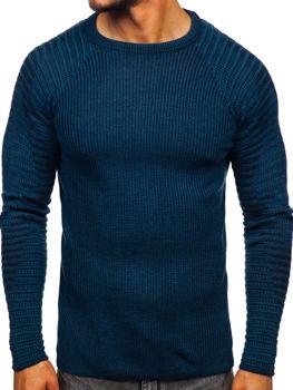 Modrý pánsky sveter Bolf 0002