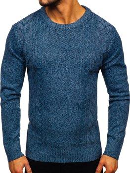 Modrý pánsky sveter Bolf H1937