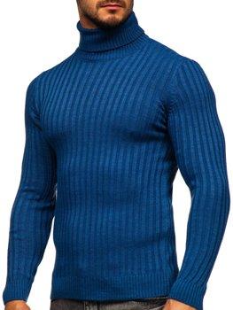 Modrý pánsky sveter / rolák Bolf 4602