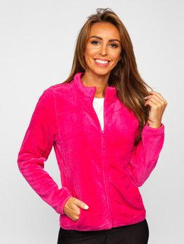 Ružová dámska flísová bunda Bolf HH001
