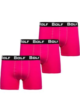 Ružové pánske boxerky 0953-3P 3ks Bolf