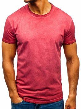 Ružové pánske tričko bez potlače BOLF 100728