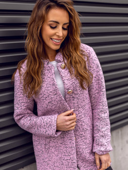 2be7af344f96 Ružový dámsky kabát BOLF 6011-1