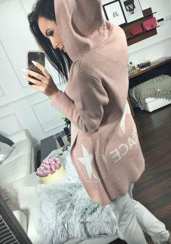 Ružový dámsky rozopínací sveter BOLF 05