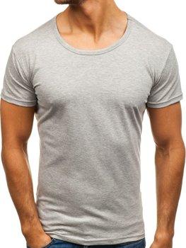 Šedé pánske tričko bez potlače BOLF 2006