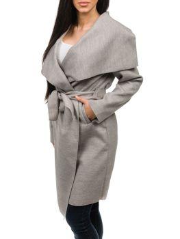 Šedý dámsky kabát Bolf 1729 ed71184fc42
