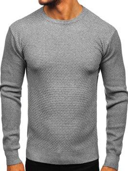 Šedý pánsky sveter Bolf 8512