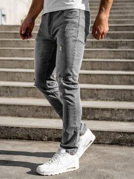 Sivé pánske rifľové nohavice regular fit Bolf T324