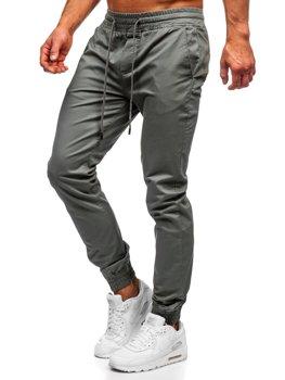 Svetlozelené pánske jogger nohavice Bolf KA951