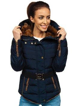 Tmavomodrá dámska zimná bunda BOLF 11