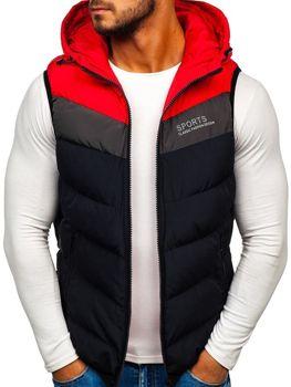Tmavomodrá pánska vesta s kapucňou BOLF 5804