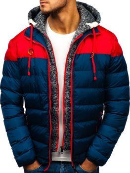 Tmavomodrá pánska zimná bunda BOLF A131