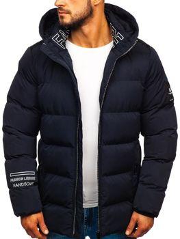 Tmavomodrá pánska zimná bunda Bolf 5973