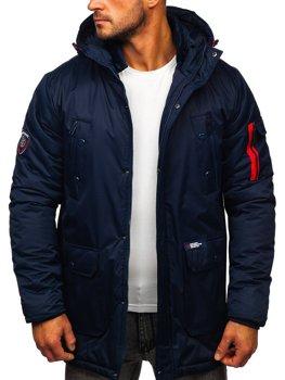 Tmavomodrá pánska zimná bunda Bolf HY827