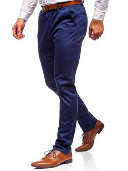 Tmavomodré pánske chinos nohavice Bolf KA968