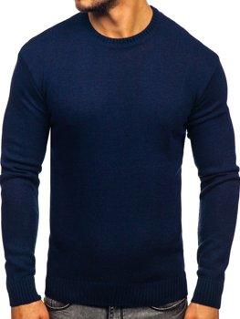 Tmavomodrý pánsky sveter Bolf 0001