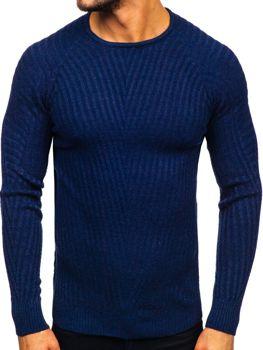 Tmavomodrý pánsky sveter Bolf 285