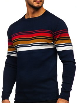 Tmavomodrý pánsky sveter Bolf H2061