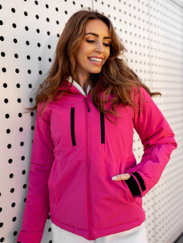 Tmavoružová dámska lyžiarská zimná bunda Bolf HH012
