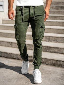 Tmavozelené pánske kapsáčové joggery Bolf CT6705