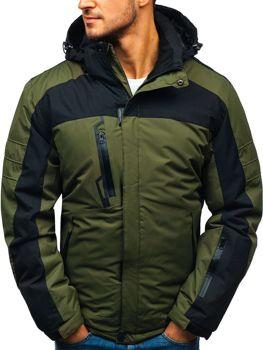 52caae2a73e8 Zelená pánska lyžiarska zimná bunda BOLF HZ8112