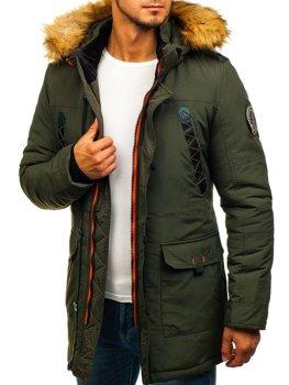 Tmavomodrá pánska zimná bunda parka BOLF 5598 d37e2a61ba1