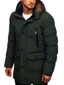 Zelená pánska zimná bunda parka Bolf 1097