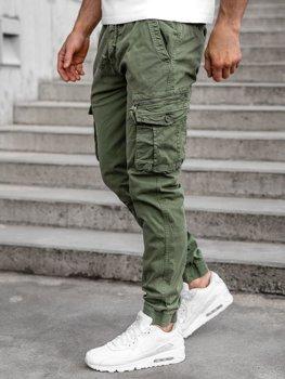 Zelené pánske kapsáčové joggery Bolf CT6706S0