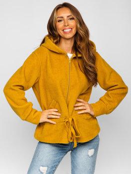 Žltá dámska bunda s kapucňou Bolf 9320