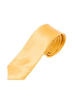 Žltá pánska elegantná kravata BOLF K001