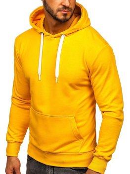 Žltá pánska mikina s kapucňou Bolf 1004