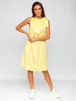 Žlté dámske šaty Bolf 9785