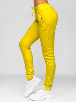 Žlté dámske tepláky Bolf CK-01-28