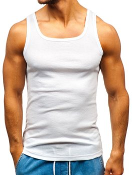 Biele pánske tričko bez potlače BOLF C10043