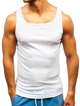Biele pánske tričko bez potlače BOLF C10049